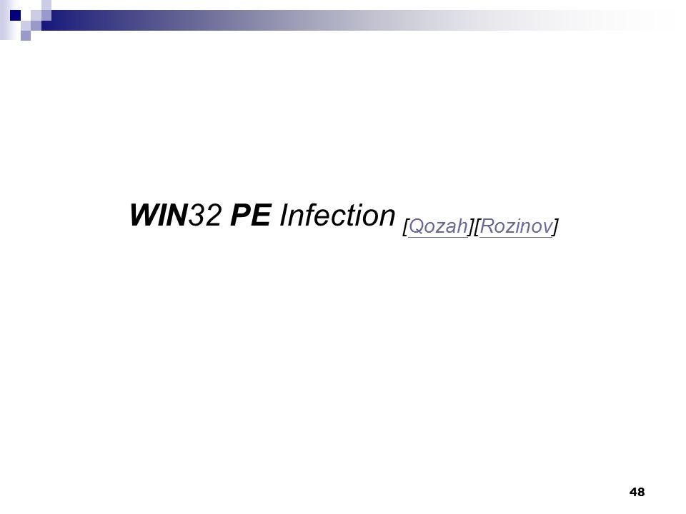 WIN32 PE Infection [Qozah][Rozinov]